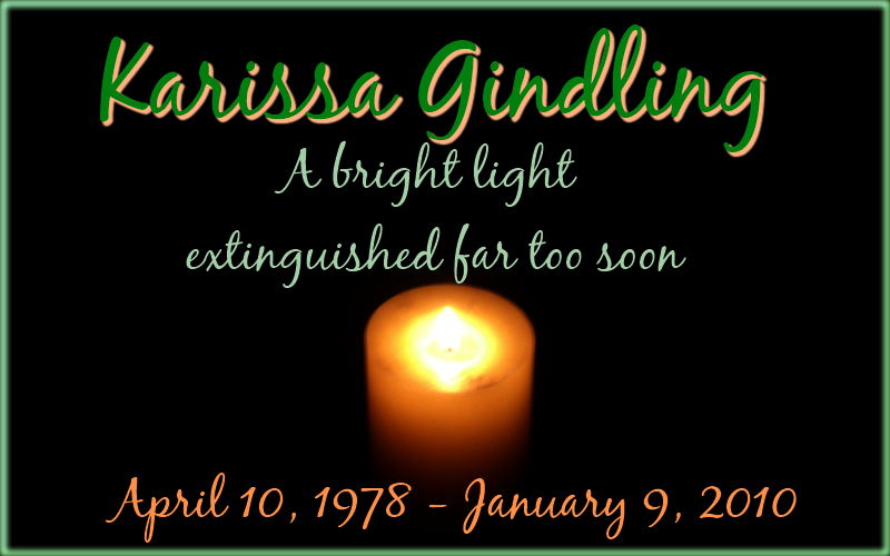 Prissy Green Karissa In Memoriam Just Another Wordless Wednesday...In Memoriam of Karissa