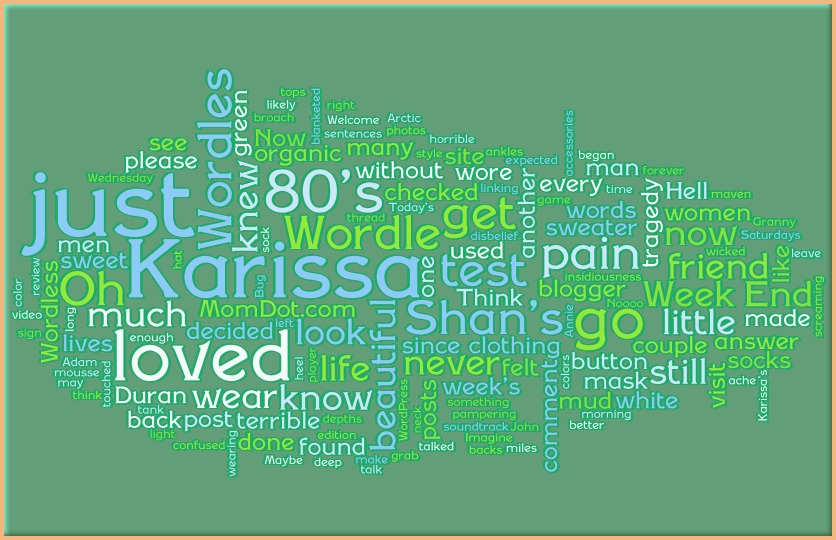 Shan's Week~End Wordles 01-16-10