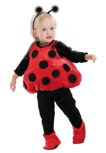 LadyBug 1 208x300 No Sew Last Minute Halloween Costumes For Kids {Or Adults}
