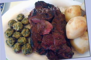 Grilled New York Steak And Spinach And Cheese Stuffed Mushrooms Recipe