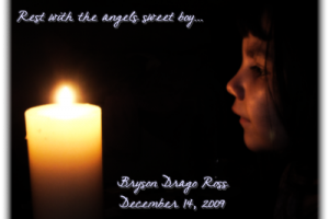 Just Another Wordless Wednesday…Candles For Bryson