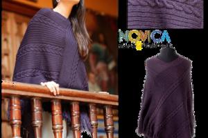 What's In Santa's Sleigh?: NOVICA.com Alpaca Wool Poncho Review