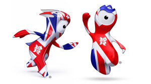 London 2012 olympic mascot mandeville wenlock union jack flag large 300x168 London 2012 olympic mascot mandeville wenlock union jack flag large