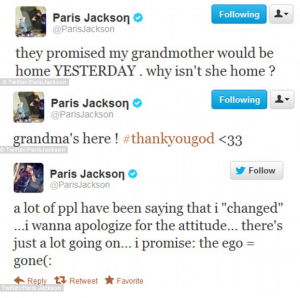 Paris Jackson Apology Tweets 300x298 Paris Jackson Apology Tweets