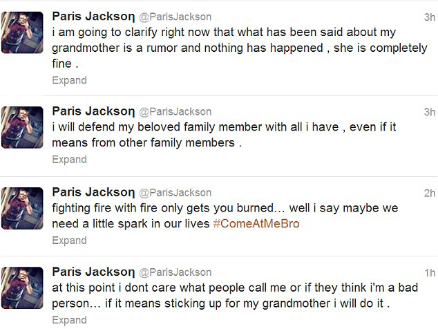 Paris Jackson Original Tweets My Brothers Dead. Whos Got The Real Will?: The Jackson Family Fights Each Other For A Piece Of Michaels Fortune
