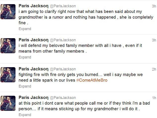 Paris Jackson Original Tweets