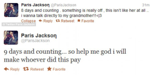 Paris Jackson Tweets Grandma Missing 300x151 Paris Jackson Tweets Grandma Missing