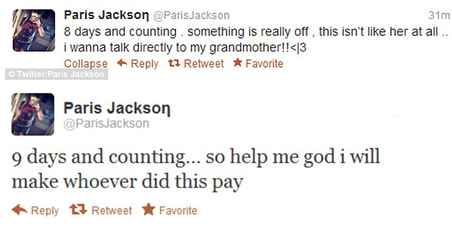 Paris Jackson Tweets Grandma Missing My Brothers Dead. Whos Got The Real Will?: The Jackson Family Fights Each Other For A Piece Of Michaels Fortune