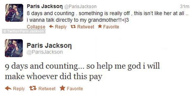 Paris Jackson Tweets Grandma Missing