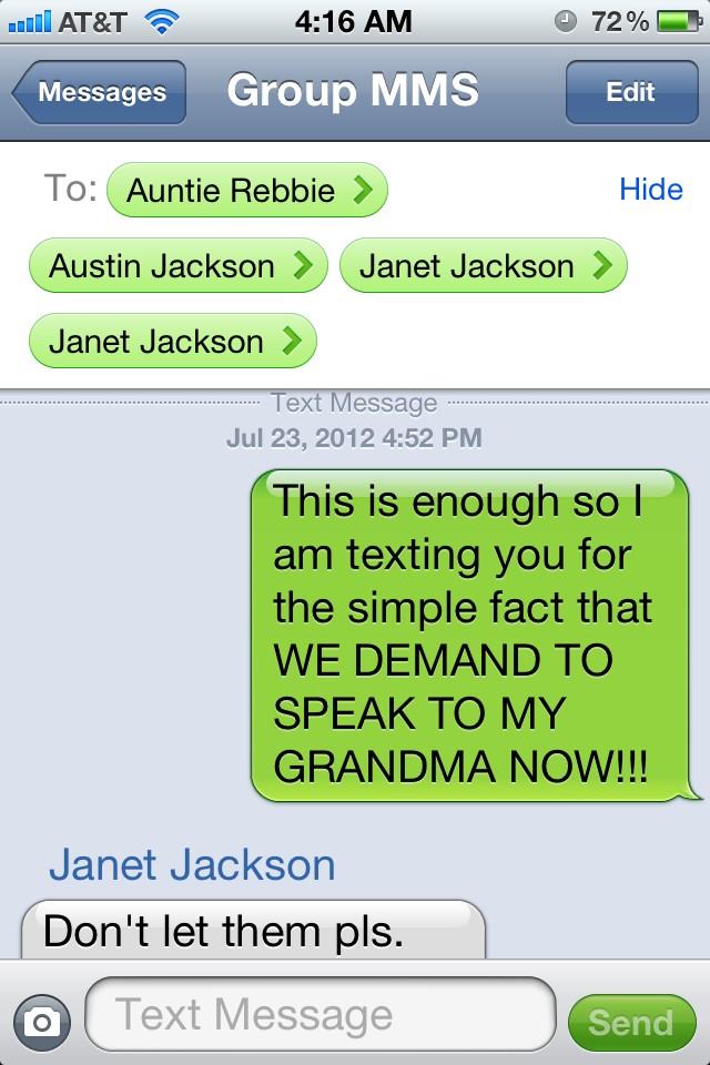 Prince Jackson Text