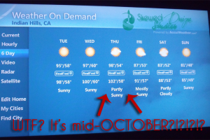 Welcome To The 8th Level Of Hell. Or Autumn In Southern California.