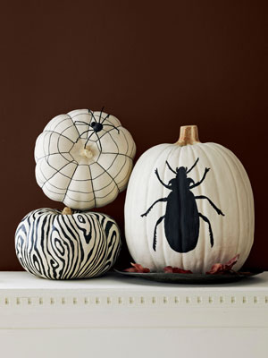 CLX black and white pumpkin v2 mdn Cool Halloween Pumpkins