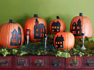 HalloweenDecor pumpkinhouses Cvsce9 mdn Cool Halloween Pumpkins