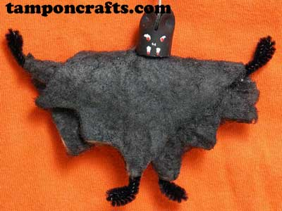 bat A Tampon Halloween: Decorating On The Cheap