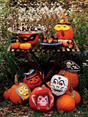 pumpkinideas maskedpumpk mdn Cool Halloween Pumpkins