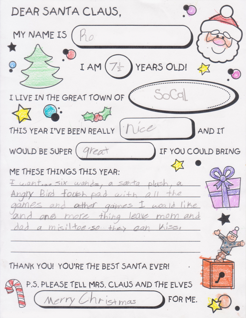 how to make a letter to santa
