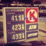 Just Another Wordless Wednesday…{California Gas Prices}